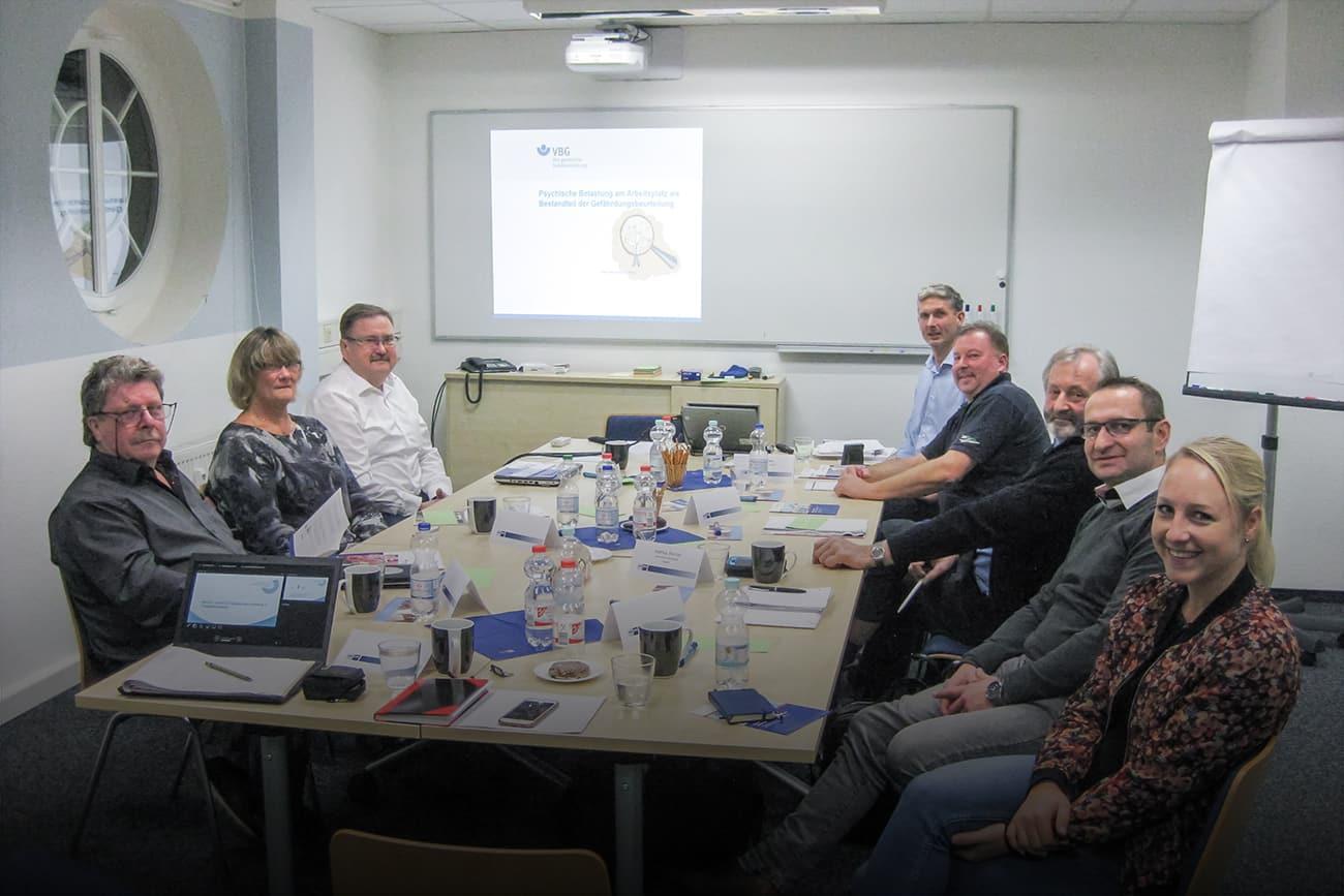 Arbeitsgruppe Personenbeförderung und Verkehr im Workshop
